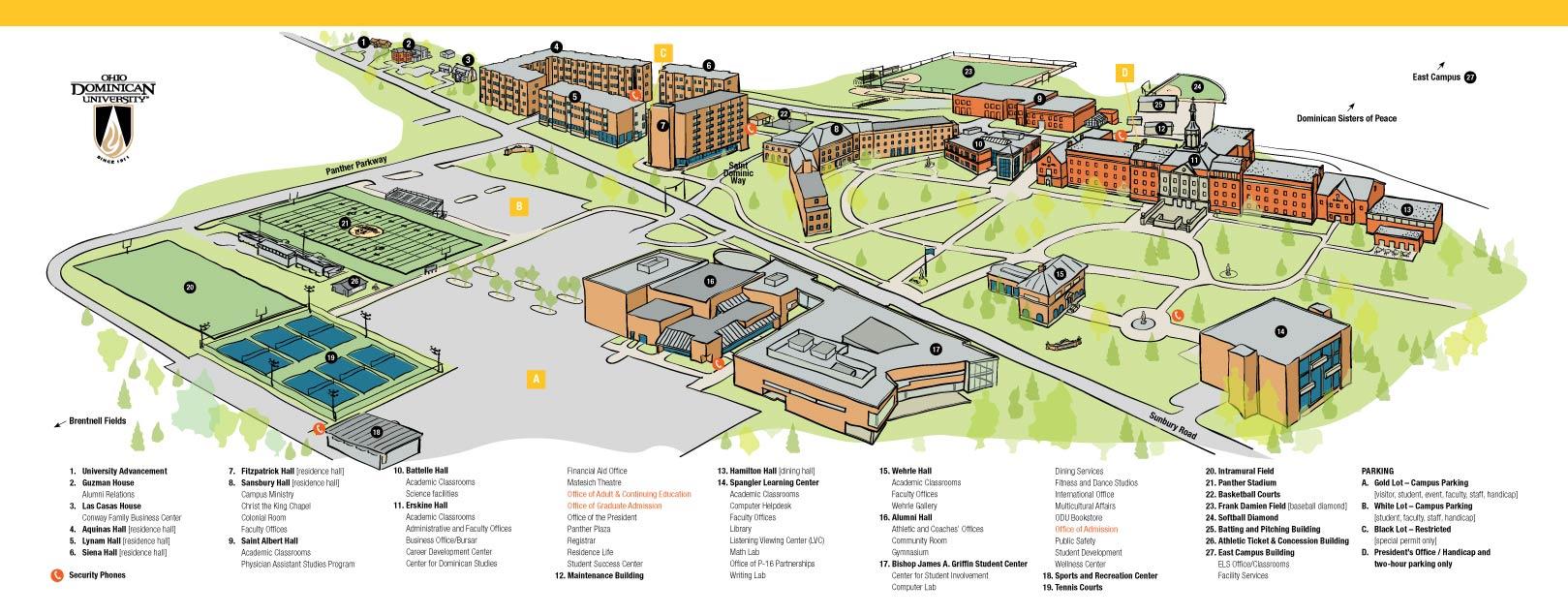 Odu Financial Aid >> Locations | Ohio Dominican University