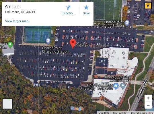 ODU Google Map to Gold Lot