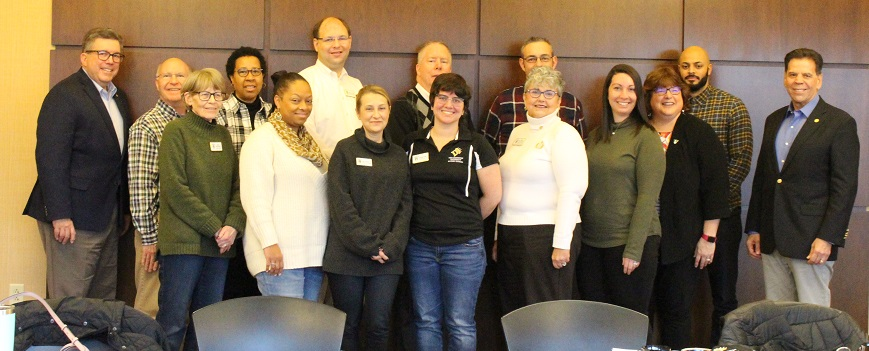 Members of the Alumni Council gather at the January 2020 meeting.