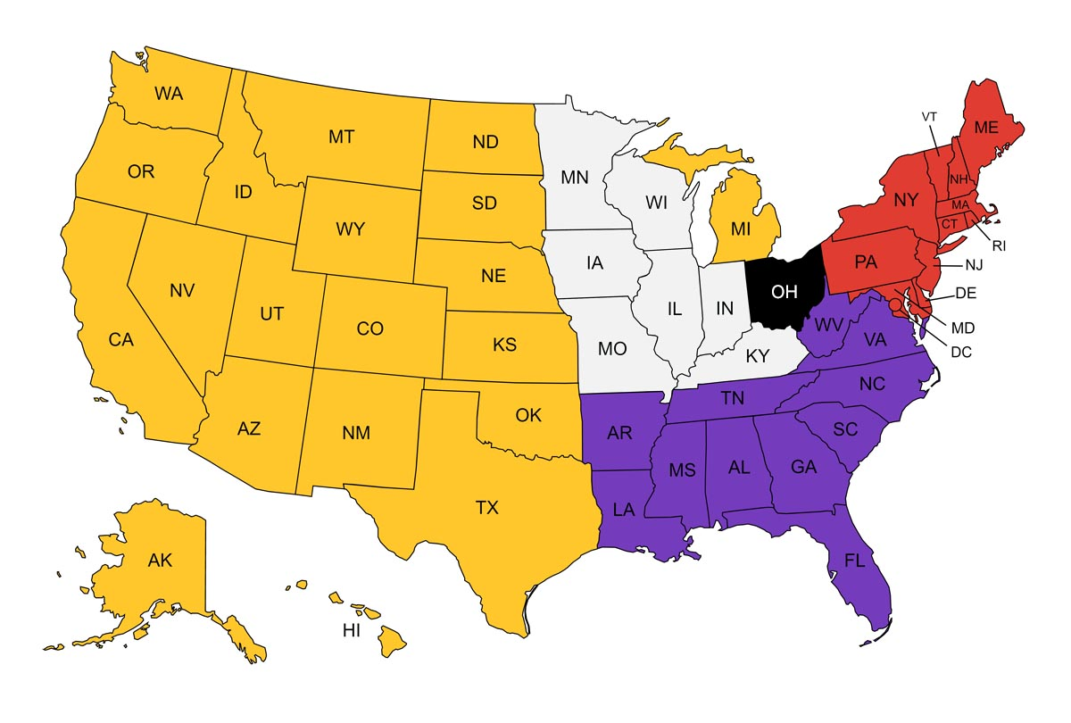 ODU Counselor US Map