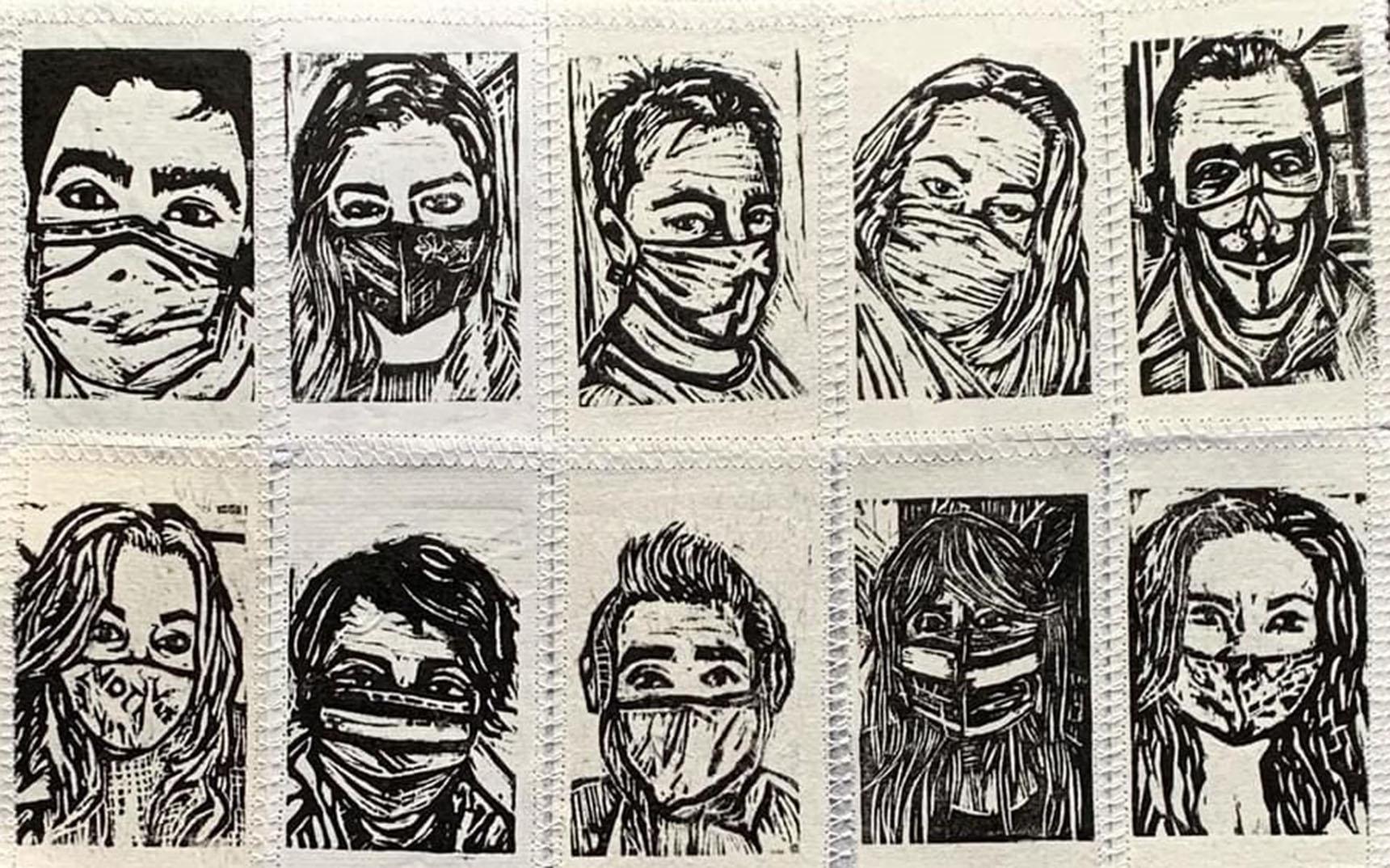 Pandemic quilt by Eliana Calle-Saari